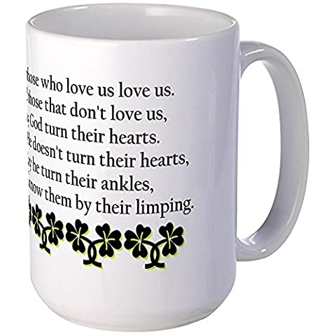 CafePress–Irische Segen? Tasse groß–Kaffee Tasse, groß 15Oz Weiß Kaffee Tasse