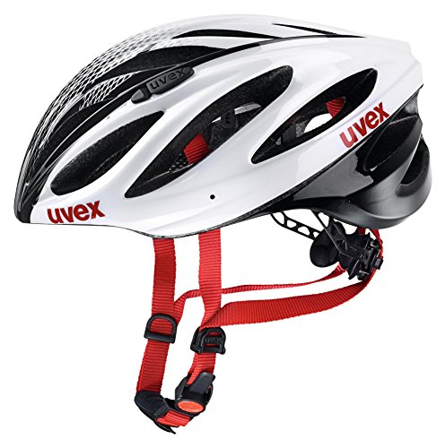 Uvex Boss Race - Casco de ciclismo, color blanco / negro, talla 52 - 56 cm