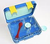Cajas de almuerzo Bento de 4 compartimentos aptas para microondas – Fiambrera para la escuela para los adolescentes, niñas, niños, compartimento de alimentos a prueba de fugas.