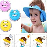 #5: MW Mall India Baby Infant Kids Children Toddler Bath Shower Cap Wash Hair Ear Shield, Assorted Colors