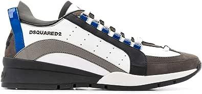 DSQUARED2 Luxury Fashion Uomo SNM050501503060M1227 Bianco Pelle Sneakers | Autunno-Inverno 20