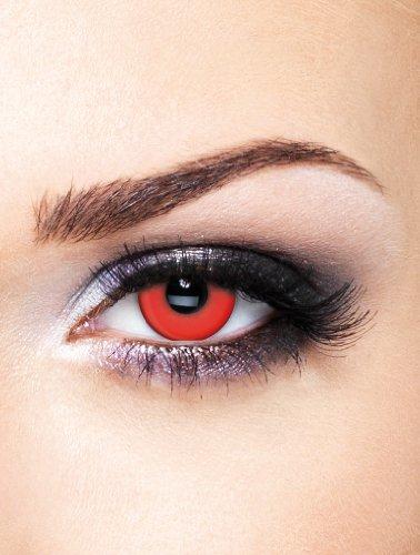 Edit farbige Rote Kontaktlinsen Crazy ohne Stärke für Halloween und (Verrückte Halloween Kontakte)
