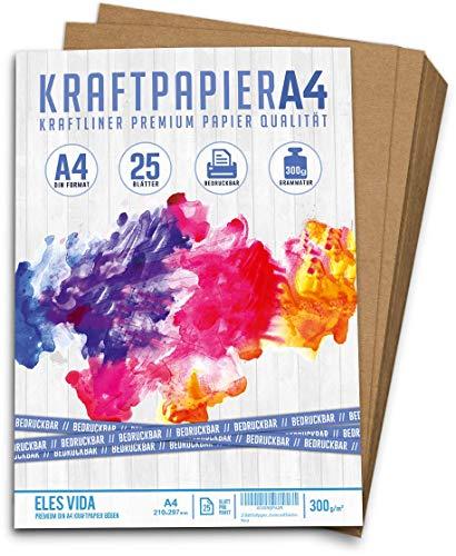 25 Blatt Kraftpapier A4 | 300g