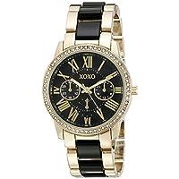 XOXO Women's XO5874 Gold-Tone and Black Bracelet Watch