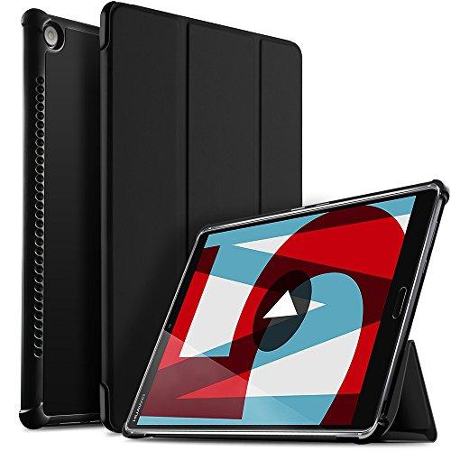 """ELTD Coque Housse Étui pour Huawei MediaPad M5 10.8, Lightweight Flip Smart Cover Housse Etui Cuir Coque avec Support pour Huawei MediaPad M5 10"""" Pro / M5 10"""" 2018 Tablette, Noir"""
