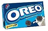 Oreo - Biscotti al Cacao Magro, Ripieni di Crema, 4 confezioni da 4 pacchetti  [16 pacchetti]