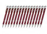 Creativgravur 15 Metall-Kugelschreiber-Set Magic, ein Gratis Brieföffner, Blaue Großraummine, Farbe:C-08 (lila)