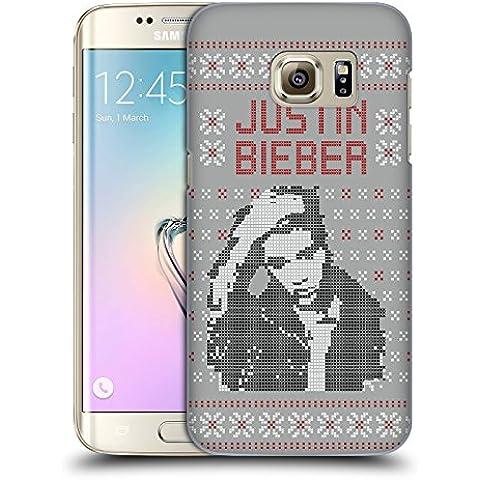 Ufficiale Justin Bieber Immagine Calendario Natale A Maglia Cover Retro Rigida per Samsung Galaxy S7 edge