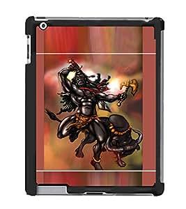 Fuson Designer Back Case Cover for Apple iPad 2 :: Apple iPad 3 :: Apple iPad 4 (Angry Shiva Tandav Vishveshwara Shankara Nilakantha )