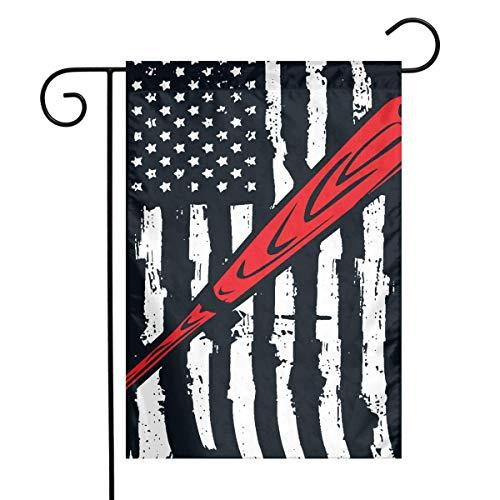 0 Baseball Softball American Flag Garden Flag House Banner for Party Yard Home Outdoor Decor (Baseball-flip-flops)