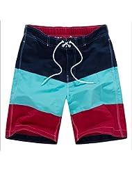 PZLL Verano moda casual playa pantalones cortos de hombres, delgados y rápido-sequedad de pantalones cortos de surf en la playa y mezclan colores ropa interior masculina , deep blue , m