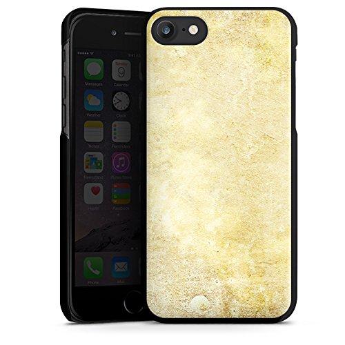 Apple iPhone X Silikon Hülle Case Schutzhülle Stein Look Muster Wand Hard Case schwarz