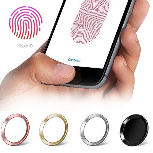 moodie Touch ID Sticker in Kupfer mit Fingerabdruckfunktion für iPhone 6 / 6S / 7 Home Button Aufkleber - passende Ergänzung zu Panzerglas (bildet EIN Höhenlevel) (Kupfer Bildet)