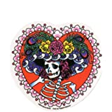 "Sunny Buick - Flower Hat Lady Sugar Skull - 4.75"" x 4.5"" - Weather Resistant, Long Lasting for Any Surface"