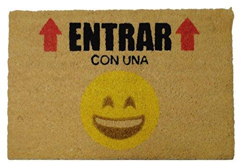 Felpudos Originales Emoticonos Entrar Felpudo, Coco, 60 x 40 cm