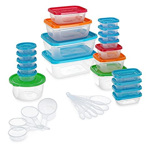 52 Piece Food Storage Boxes Containers Set With Lids &