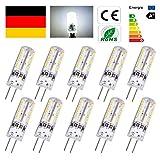 RMAN - 20 Stücke G4 1,5W LED Stiftsockel Licht Birne 24 SMD3014 Lampe Stiftsockellampe, Ersatz 15W Leuchtmittel 110lm Kaltweiß 6000-6500K DC 12V