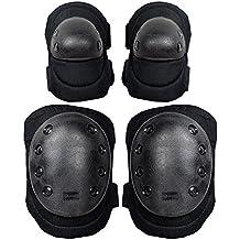 g-i-mall Advanced Tactical protectora Pad Set con rodilleras y coderas, negro