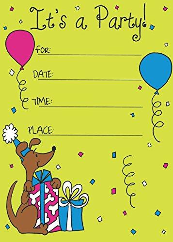 Birthday Invitation Card on Metallic Sheet (Pack of 50 Cards) BPC-014