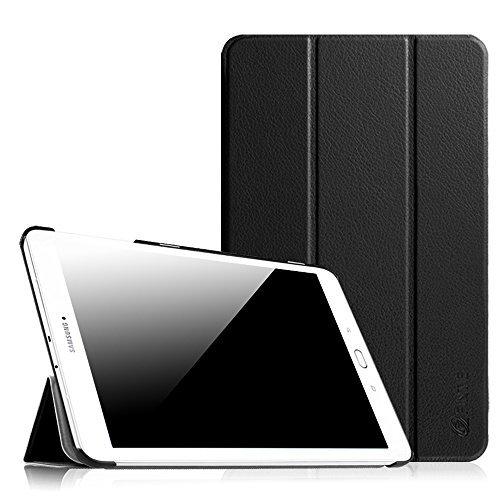 Fintie Samsung Galaxy Tab E 9.6 Hülle Case - Ultra Schlank Superleicht Ständer SlimShell Cover Schutzhülle Etui Tasche für Samsung Galaxy Tab E T560N / T561N 24,3 cm (9,6 Zoll) Tablet-PC, Schwarz