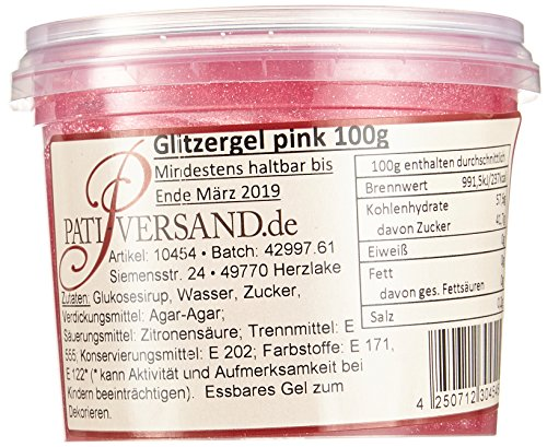 Pati-Versand Glitzergel 6 x 100 g, 1er Pack (1 x 600 g)