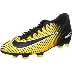 NIKE Mercurial Vortex III FG, Scarpe per Allenamento Calcio Uomo, Arancione (Laser Orange/Black Volt/White), 42.5 EU