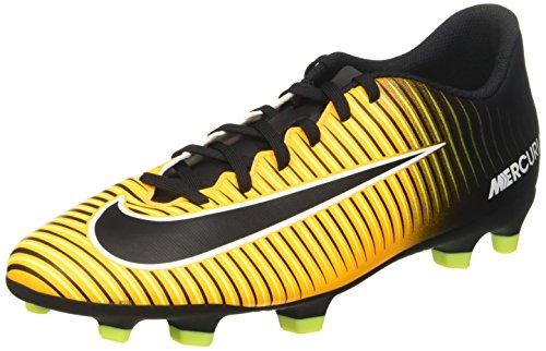 Nike Mercurial Vortex III FG, Scarpe per Allenamento Calcio Uomo, Arancione (Laser Orange/Black Volt/White), 43 EU