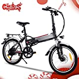 Speedrid Velo electriquer, 2019 26 Plus/26/20 pneus Vélo électrique pour vélo Ebike avec Moteur sans Balai de 250 W et Batterie au Lithium 36V 8Ah/ 12Ah Shimano 21/7 Vitesses
