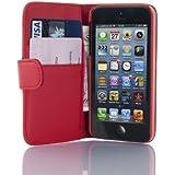 Housse iPhone SE, iPhone 5 5s  Coque iPhone SE, iPhone 5 5s | JAMMYLIZARD | Housse portefeuille Classique aspect cuir range cartes fermeture magnétique, Rouge
