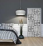 DekoShop Fototapete Tür Vlies - Tapete Imitation, Struktur und Textur Wandtapete Mosaik AMD10105VET Vet (211 cm. x 91cm.)