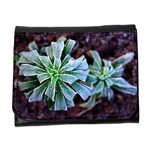 Cartera unisex // M00156501 Gelo di inverno pianta stagionale Macro // Small Size Wallet