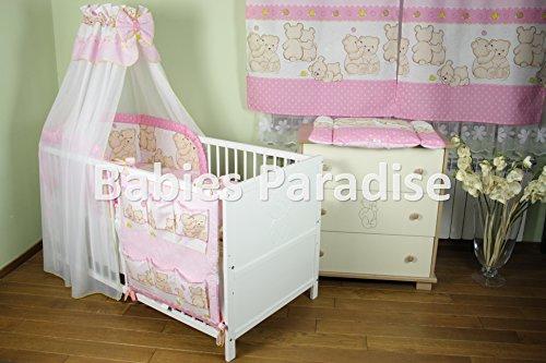 Baby Bettwäsche Set Kuschelbär (5 tlg, Rosa)