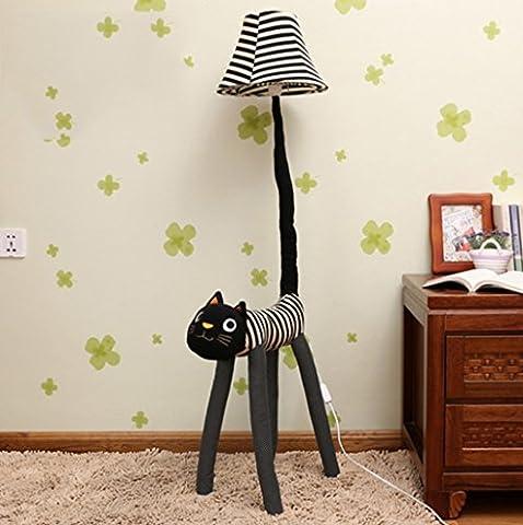Adorable Meng Cat lampe de plancher dessin animé enfants Chambre à coucher Chambre à coucher Apprentissage LED Lampadaire