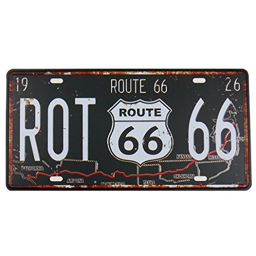 MS Route 66Blechschild Metall Poster Nummernschild Home Bar Decor Metall schwarz cj574-b