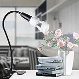 Starter Soporte flexible de la lámpara E27 del tenedor de la lámpara de 360 grados con el tenedor del interruptor enchufe BRITÁNICO con la lámpara de mesa flexible del clip de la planta de cuello