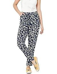 Amazon.it  pantaloni fiori - Donna  Abbigliamento b21389d8fb6