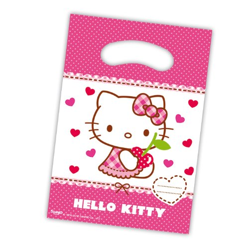 Hello Kostüm Kitty Prinzessin - PARTY DISCOUNT Geschenktüte Hello Kitty, 6 Stk.