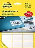 Avery Zweckform 3325 Vielzweck Etiketten (522 Stück, Premium, Papier matt, 38 x 24 mm) 29 Blatt weiß