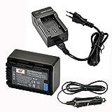 DSTE® Ersatz Batterie und DC106E Reise Ladegerät Kit für Panasonic VW-VBK180 SDR-H100 SDR-H101 SDR-H85 SDR-S50 SDR-S70 SDR-S71 SDR-T50 SDR-T70 SDR-T71 SDR-T76 HC-V10 HC-V100 HC-V100M HC-V500 HC-V500M
