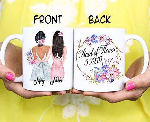 Taza de regalo para dama de honor con texto en inglés'Will You Be My Bridesmaid Best Friend'
