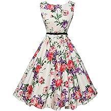 a1ed022f3f52 Damen Sommerkleider Frauen Dress Vintage Abendkleid Ärmelloses Skaterkleid  A Line Swing Mini Kleid Slim Fit Partykleid