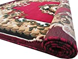 #2: Zia Carpets Beautiful Floral Design Velvet Touch Floor Carpet For Living Room And Bed Room With 1 Inch Thickness , Red 5 X 7 Feet (150X200 Cm. )