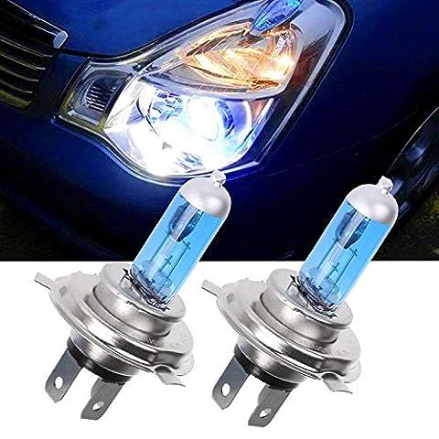 2 Stück Cool White H4 Halogen Xenon 100W Auto Auto Scheinwerfer Scheinwerfer Ersatz Lampe Lichter Birne DC12V 5000K für Auto Zubehör