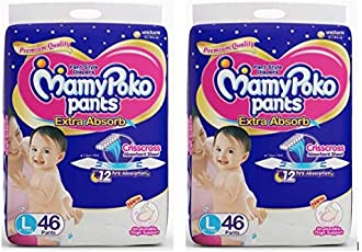 Mamypoko Pant Style Large Size Diapers 46-Count(4-Pocket)