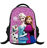 MissFox School Bag Zaino Frozen Principesse Anna E Elsa Zainetto Ragazze Asilo Backpack P5