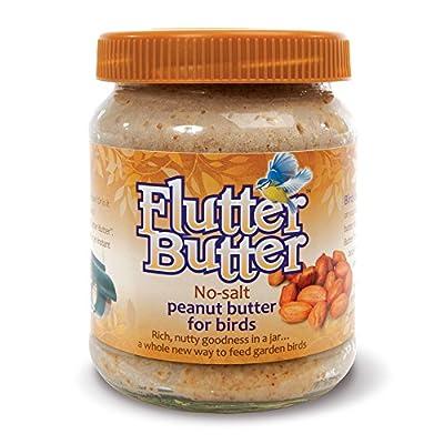 Flutter Butter No-Salt Flavoured Peanut Butter Jars For Wild Garden Birds, 330g by Happy Beaks by Happy Beaks