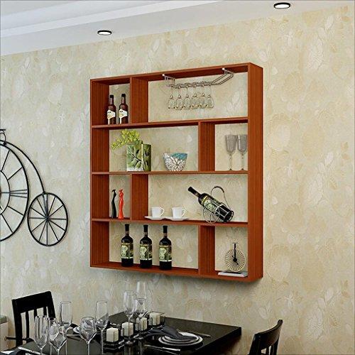 DSC Regal Wand Weinregal Hänge Weinschrank Küche Restaurant Wand Weinregal Einfache Dekoration Rack ( Farbe : A ) (Draht-wand Weinregal)