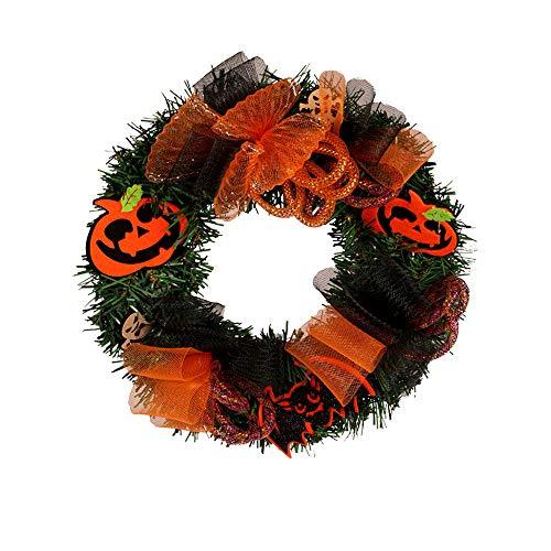 FeiliandaJJ 30cm Kranz Deko Kürbis Türkranz für Weihnachten Halloween Thanksgiving Heim Fenster Party Dekor (Multicolor)