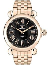 Glam Rock Vintage Damen-Armbanduhr 40mm Armband Gold beschichtetes Edelstahl + Gehäuse Batterie GR28044-BR