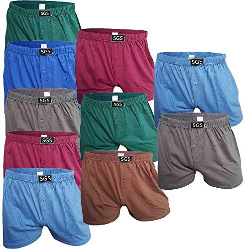 SGS 6-10 Pack Unterhosen Mann Herren Unterhosen Boxershorts Men (10.Stück, 13/6XL)